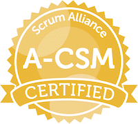 Advanced Certified ScrumMaster® (A-CSM) badge