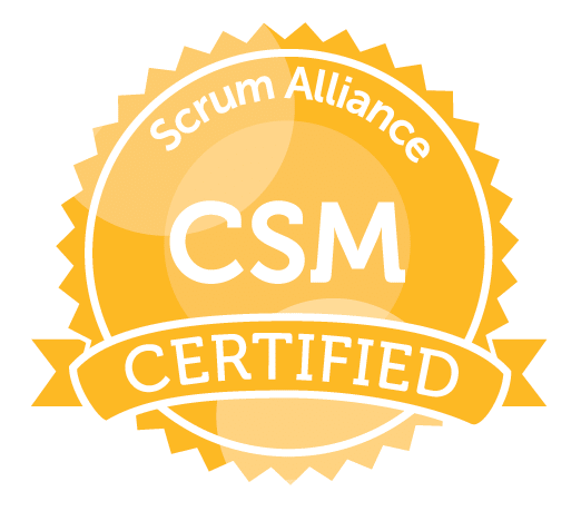 Certified ScrumMaster® (CSM) [Virtual Training] badge