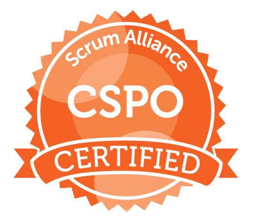 Certified Scrum Product Owner® (CSPO) badge