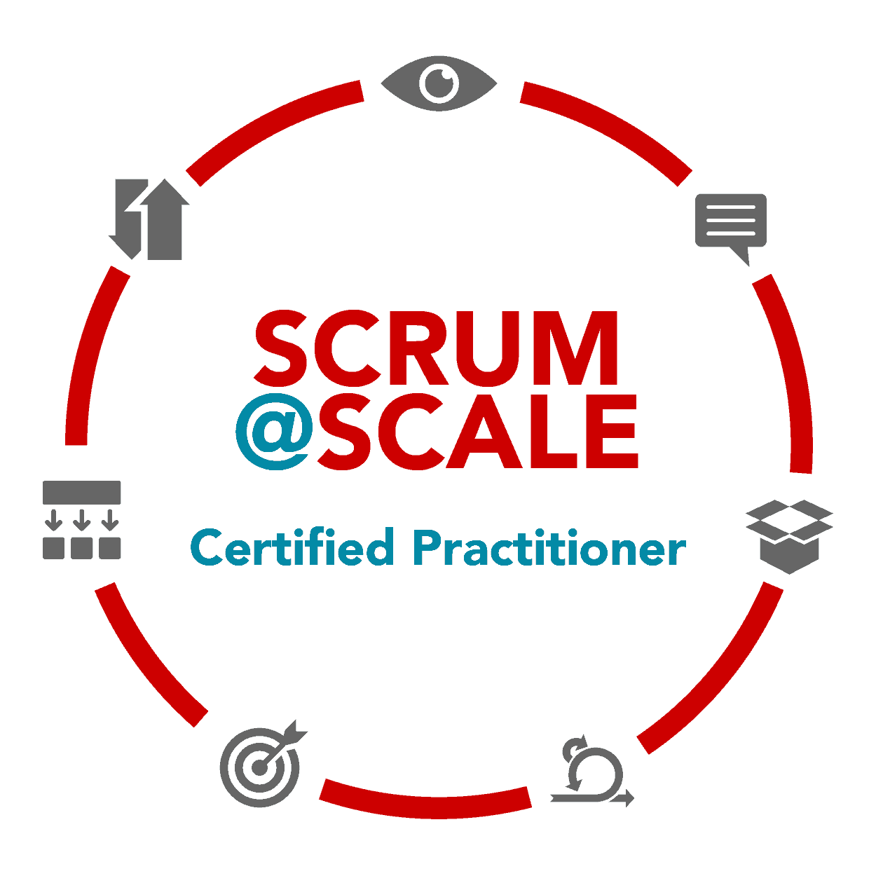 Certified Scrum@Scale Practitioner® (CSaSP) badge