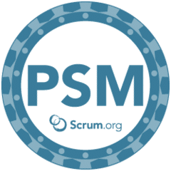 Professional Scrum Master® (PSM) badge