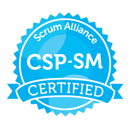 Certified Scrum Professional - ScrumMaster® (CSPSM) badge