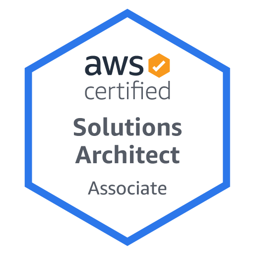 AWS® Certified Solutions Architect – Associate Level  [Live or Virtual] badge