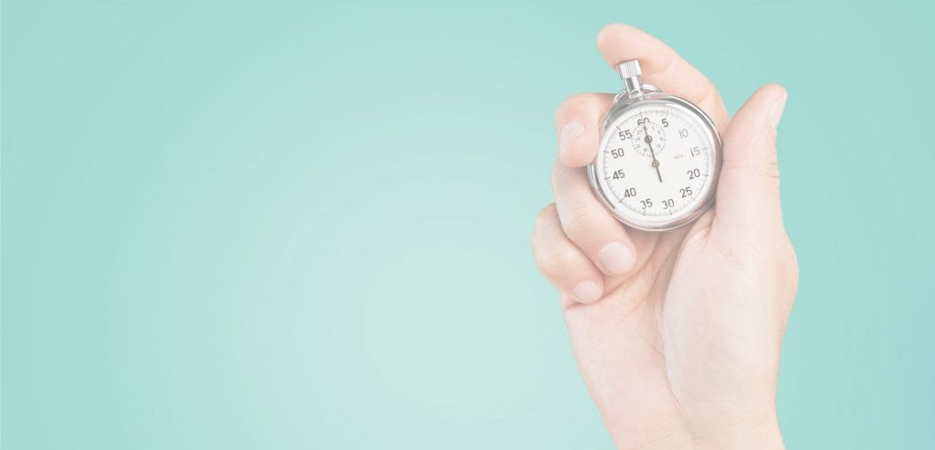 The Daily Scrum is Time-Boxed to 15 Minutes - Hand Holding Stopwatch