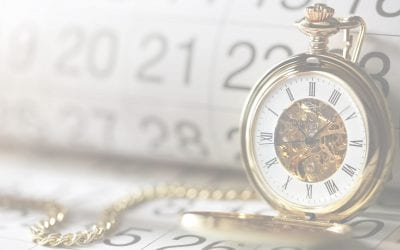 The Sprint Planning meeting is time-boxed - pocket watch and calendar photo